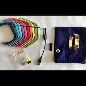 Fitbit Flex + Charger, Bands, & Tory Burch Bangle